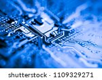 abstract close up of mainboard... | Shutterstock . vector #1109329271