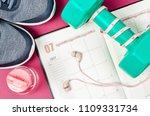 calendar plan with green... | Shutterstock . vector #1109331734