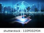 businesswoman on blurred... | Shutterstock . vector #1109332934