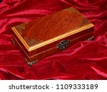 a handmade mahogany casket on...   Shutterstock . vector #1109333189
