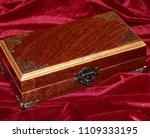 a handmade mahogany casket on...   Shutterstock . vector #1109333195