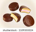 chocolate and milk flavor of...   Shutterstock . vector #1109333324
