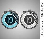 electronic digital stopwatch.... | Shutterstock .eps vector #1109335445