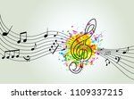music colorful background with... | Shutterstock .eps vector #1109337215