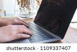 closeup image of hands working... | Shutterstock . vector #1109337407