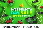 father's day sale promotion... | Shutterstock .eps vector #1109358089