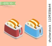 isometric toaster with a... | Shutterstock .eps vector #1109358644