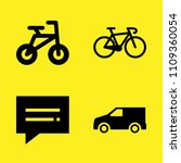 bicycle  bicycle  van and chat... | Shutterstock .eps vector #1109360054