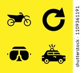 motorcycle  police car  refresh ...