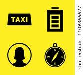 taxi  compass with cardinal...