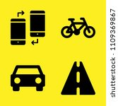 road sign  smartphone  car... | Shutterstock .eps vector #1109369867