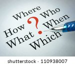 frequently asked questions ... | Shutterstock . vector #110938007