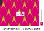 food patterns  summer   fruit ... | Shutterstock .eps vector #1109381555