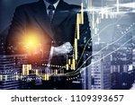 double exposure of young...   Shutterstock . vector #1109393657