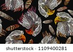 embroidery head eagle and... | Shutterstock .eps vector #1109400281