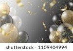 transparent realistic balloons... | Shutterstock .eps vector #1109404994