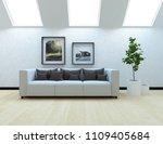 idea of a white scandinavian... | Shutterstock . vector #1109405684