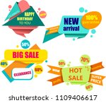 four colorful shopping and... | Shutterstock .eps vector #1109406617