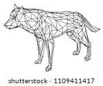 wolf polygonal lines... | Shutterstock .eps vector #1109411417