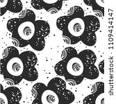 seamless pattern with cute...   Shutterstock .eps vector #1109414147