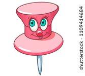 paper pin. pushpin. drawing pin.... | Shutterstock .eps vector #1109414684