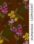 floral seamless pattern with... | Shutterstock .eps vector #1109415347