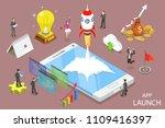 flat isometric vector concept... | Shutterstock .eps vector #1109416397