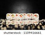 sushi roll philadelphia unagi... | Shutterstock . vector #1109416661