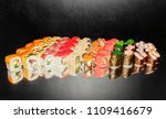 top view of japanese sushi.... | Shutterstock . vector #1109416679