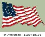 vector grunge illustration of... | Shutterstock .eps vector #1109418191