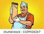 smiling oriental street food... | Shutterstock .eps vector #1109426267