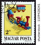 hungary   circa 1988  a stamp... | Shutterstock . vector #1109428241