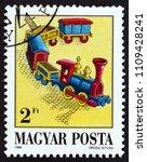 hungary   circa 1988  a stamp... | Shutterstock . vector #1109428241