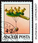 hungary   circa 1988  a stamp... | Shutterstock . vector #1109428247