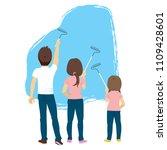 back view illustration of...   Shutterstock .eps vector #1109428601