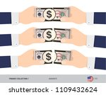 50 us dollar banknote. hands... | Shutterstock .eps vector #1109432624