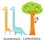 measured height set with... | Shutterstock .eps vector #1109435024