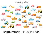find pairs of identical...   Shutterstock .eps vector #1109441735