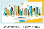 smart city web page design with ... | Shutterstock .eps vector #1109442827