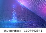 electronic glowing contacts on...   Shutterstock .eps vector #1109442941