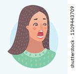 vector cartoon illustration of... | Shutterstock .eps vector #1109443709