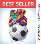 soccer ball. football mascot....   Shutterstock .eps vector #1109448107