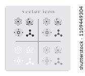 set of atom flat black and... | Shutterstock .eps vector #1109449304