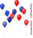red and blue balloons group... | Shutterstock .eps vector #1109449931
