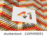 number 41 on the orange and red ... | Shutterstock . vector #1109450051