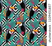 seamless pattern with toco... | Shutterstock .eps vector #1109451857