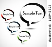 abstract design speech bubble... | Shutterstock .eps vector #110945525