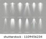 bright lighting projector beams ... | Shutterstock .eps vector #1109456234