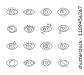 black pictogram of eyesight or... | Shutterstock .eps vector #1109456267
