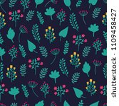 cute hand drawn floral colorful ... | Shutterstock .eps vector #1109458427